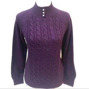 Rebecca Malone pearly button turtle neck sweater